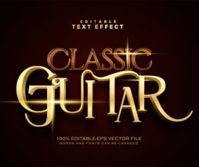 Dark red and golden font text effect in vector