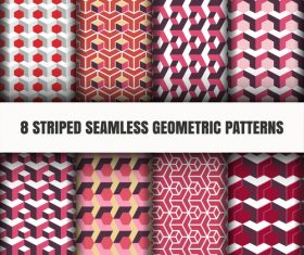 Dark red seamless geometric pattern vector