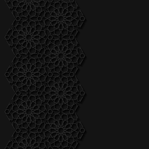 Decorative carved pattern vector