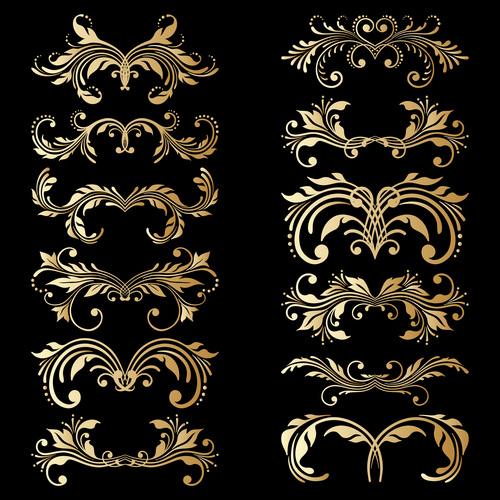 Design floral ornament vector