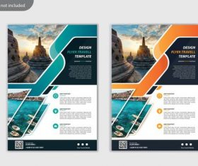 Design flyer travel brochure vector