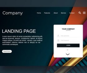 Design template company website landing page vector