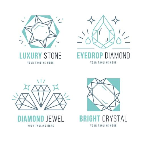 Diamond jewel logo vector
