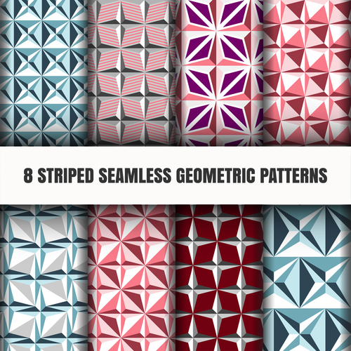 Different color rhombus seamless pattern vector