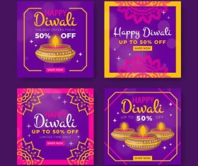 Diwali promotion card vector