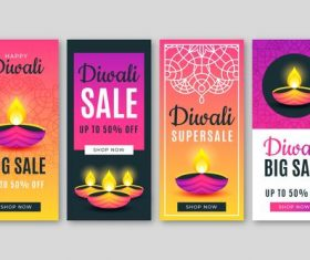 Diwali super sale banner vector