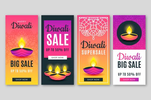 Diwali super sale banner vector
