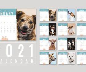 Dog cover 2021 calendar vector