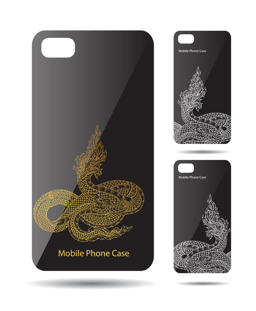 Dragon art pattern phone cases cover vector