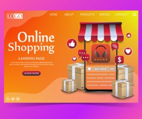 E-commerce web page vector