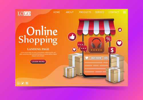 E commerce web page vector