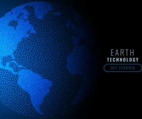 Earth technology abstract background vector
