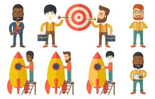 Economic target cartoon vector