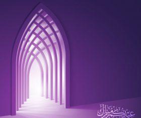 Eid Mubarak celebration greeting card background vector