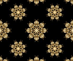 Eight petal flower shape decoration design vector