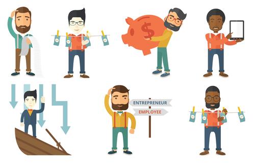 Entrepreneur cartoon vector