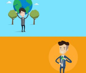 Environmental protection flat design vector