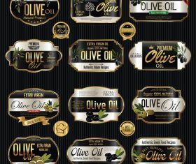 Extra virgin olive oil label vector