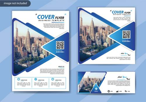 Famous building cover brochure vector