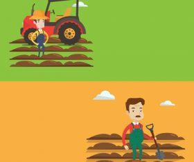 Farmer flat design vector