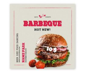 Fast Food Promotion Flyer Vector