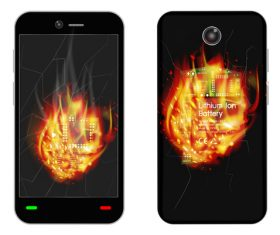 Flame art pattern phone cases cover vector