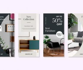 Flash sale furniture flyer vector