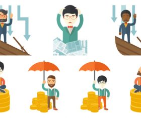 Flat business people vector