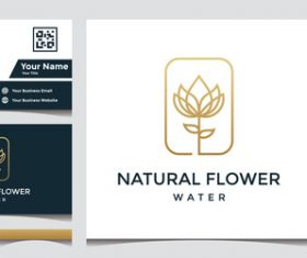 Flower business card cover design vector