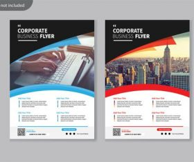Flyer corporate brochure vector