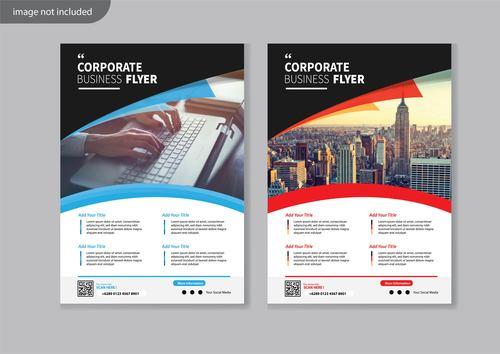 Flyer corporate brochure vector
