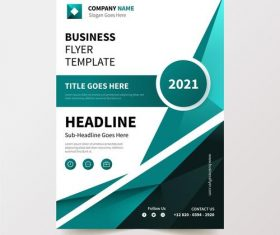 Flyer design business template vector