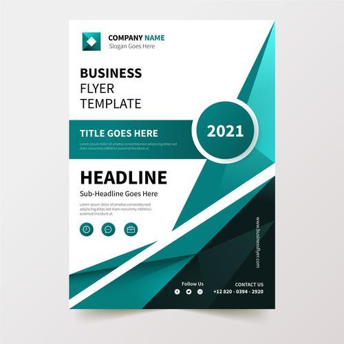 Flyer design business template vector