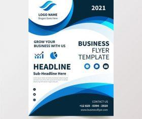 Flyer design business vector