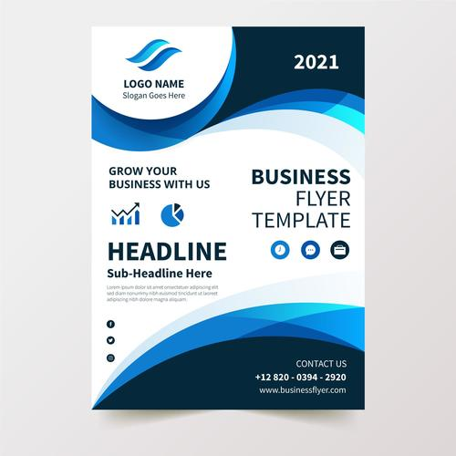 Flyer design business vector
