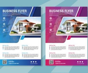 Flyer real estate brochure vector