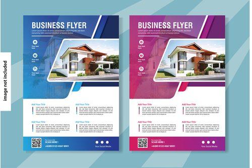 Flyer real estate brochure vector