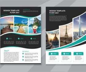 Flyer travel brochure vector