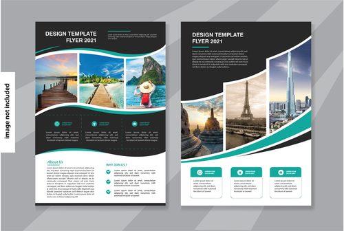 Flyer travel brochure vector