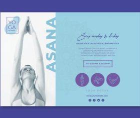 Flyer yoga classes vector