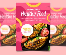 Food promotion flyers vector