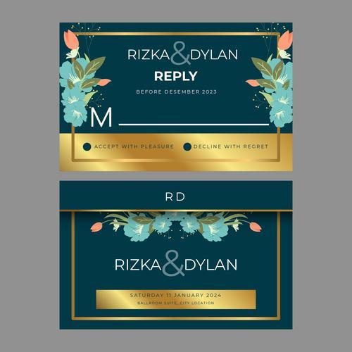 Frame banner art wedding posts vector