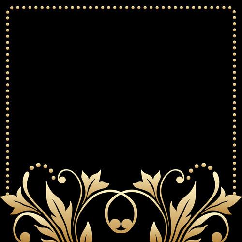 Frame decorative flower vector