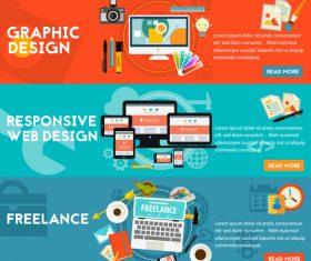Freelance flat concept vector