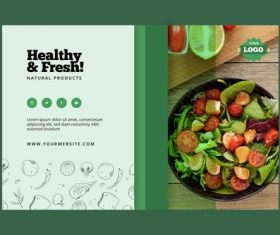 Fresh vegetables food vector