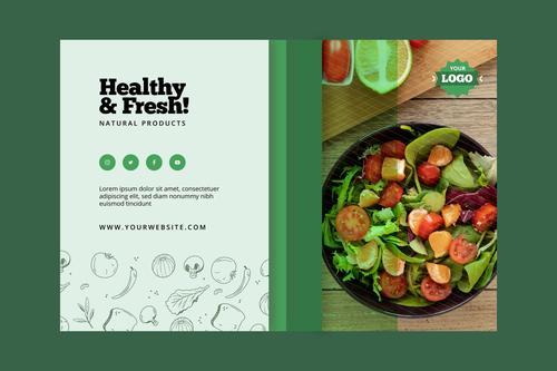 Fresh vegetables food vector