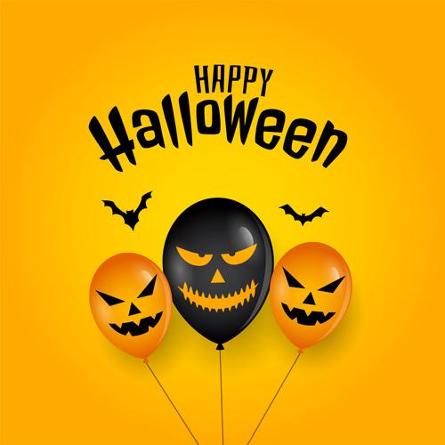 Funny Halloween card vector
