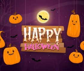 Funny halloween illustration vector