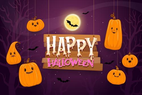 Funny halloween illustration vector