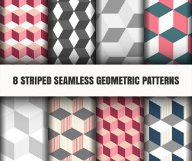 Geometric checkered seamless pattern vector